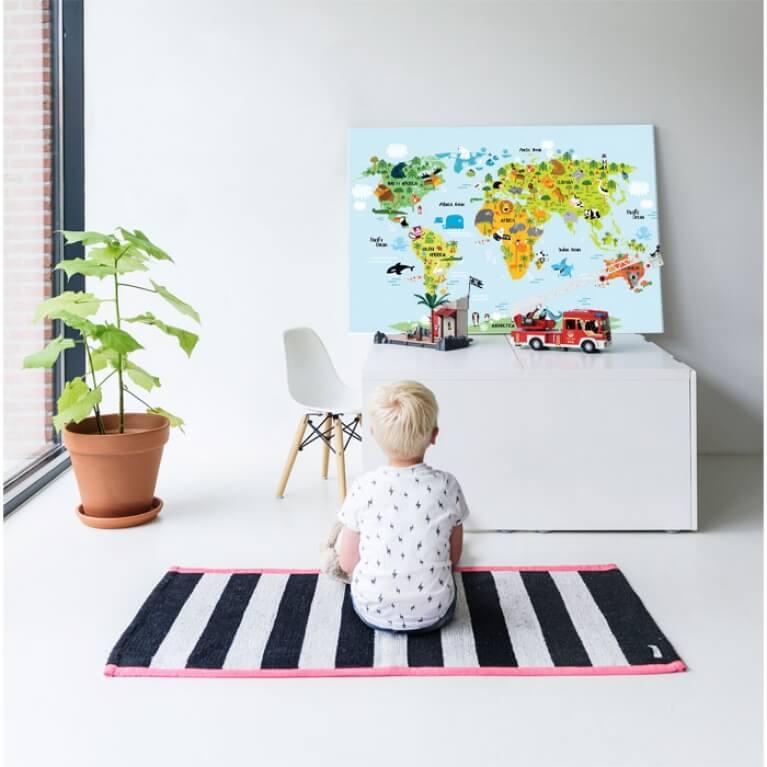 Wereldkaart op glas – WINACTIE