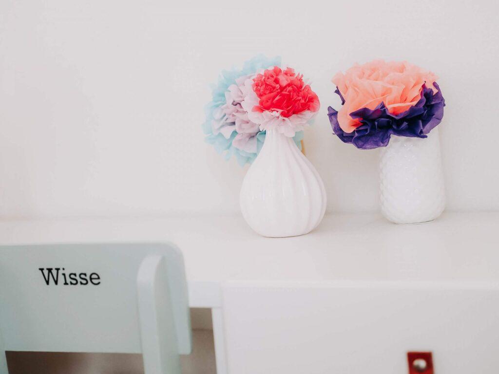 bloemen van tissue papier