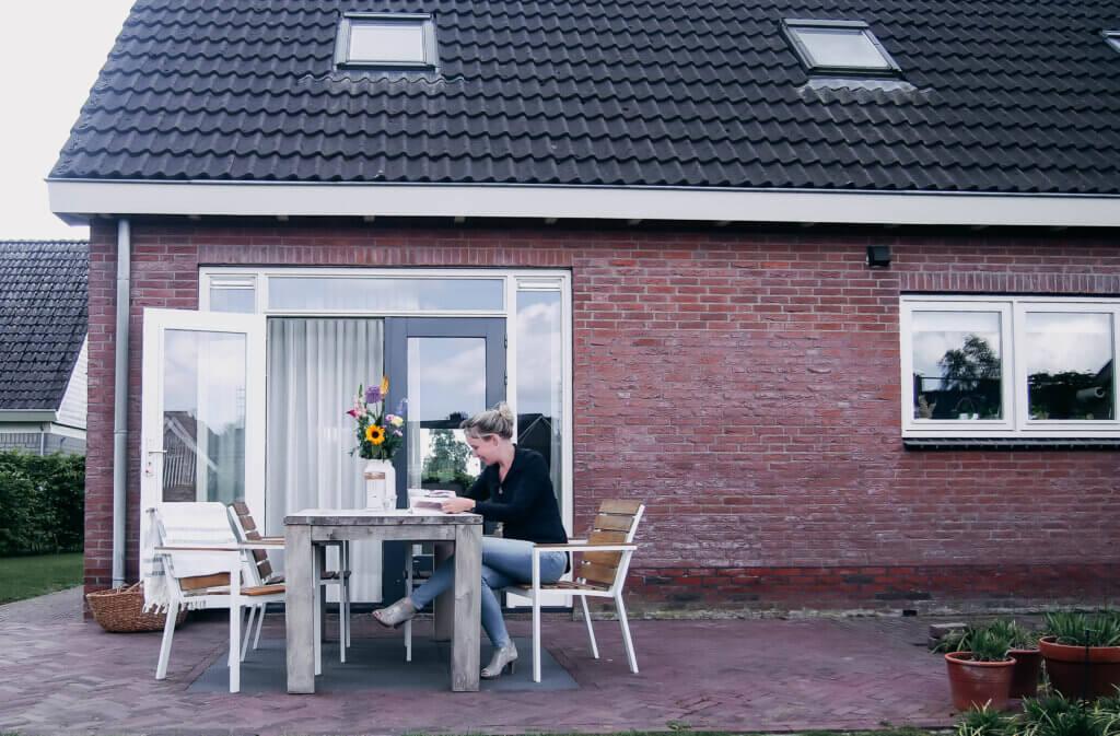 terras bij openslaande deuren