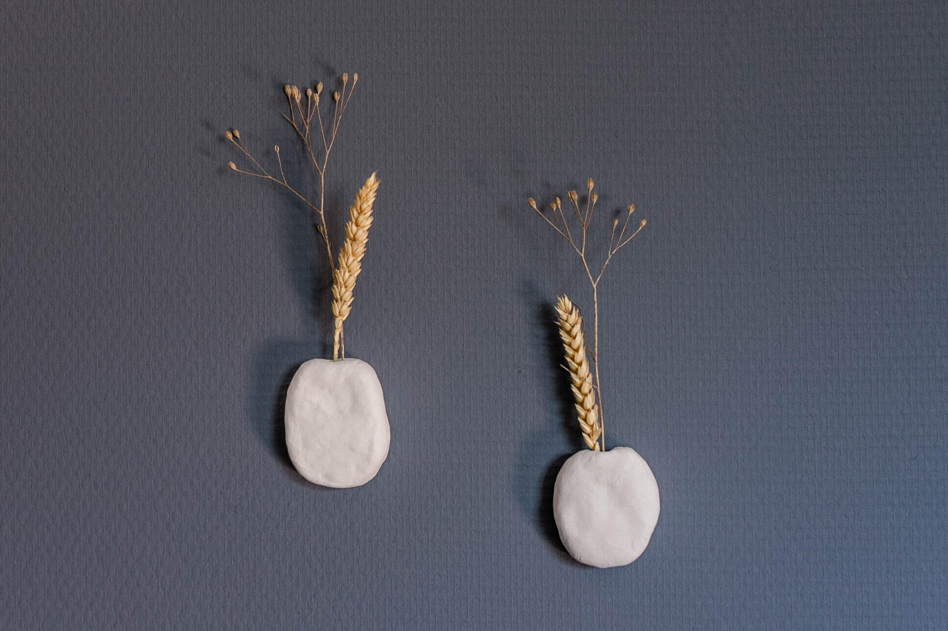Muurvaasjes van klei – DIY