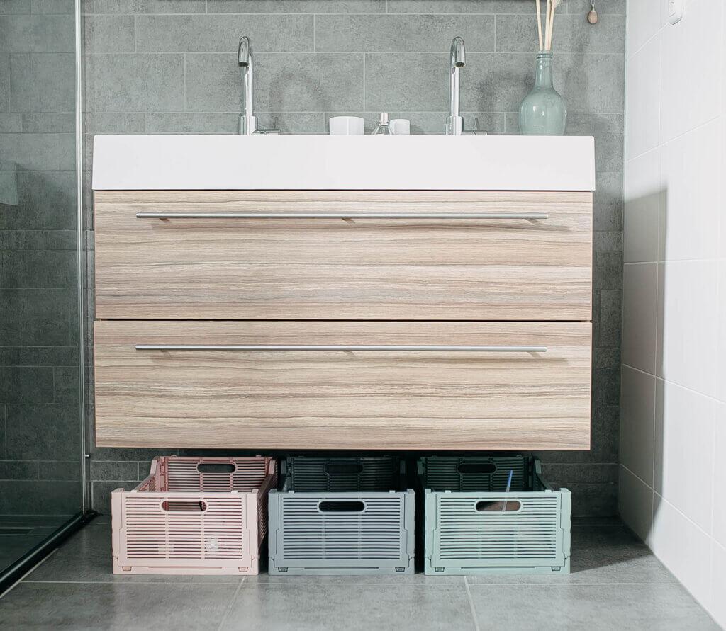 opbergmogelijkheden in badkamer