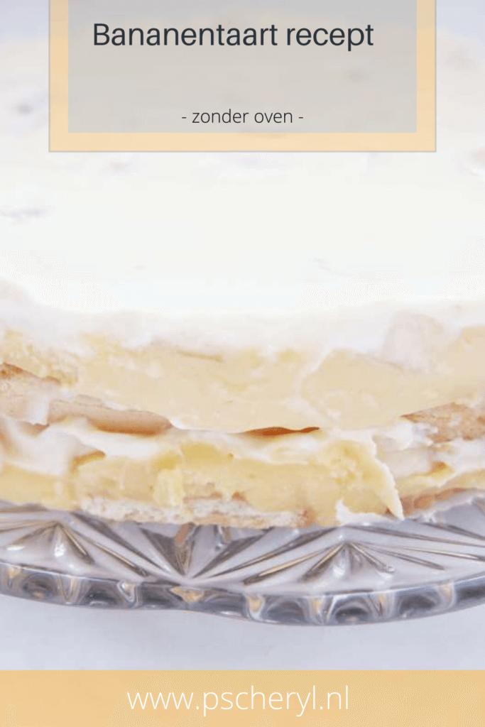 bananentaart recept zonder oven no bake