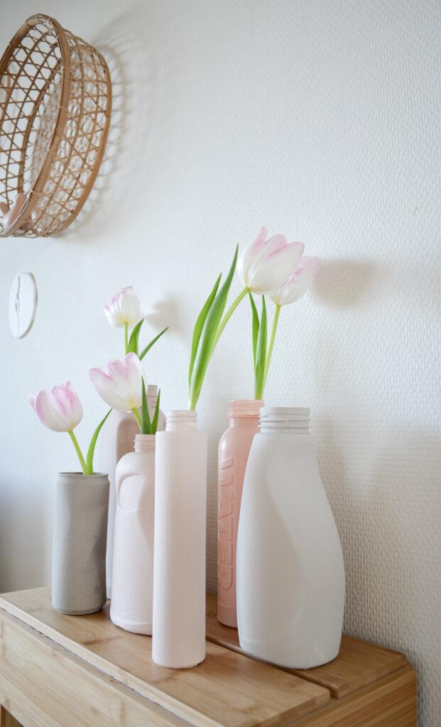 tulpen in vaas diy van plastic fles duurzaam