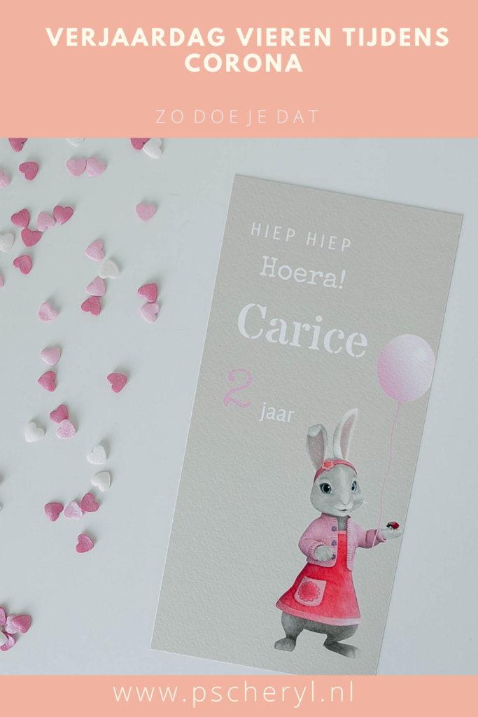 kinderverjaardag vieren in coronatijd verjaardag uitnodiging taart kaart