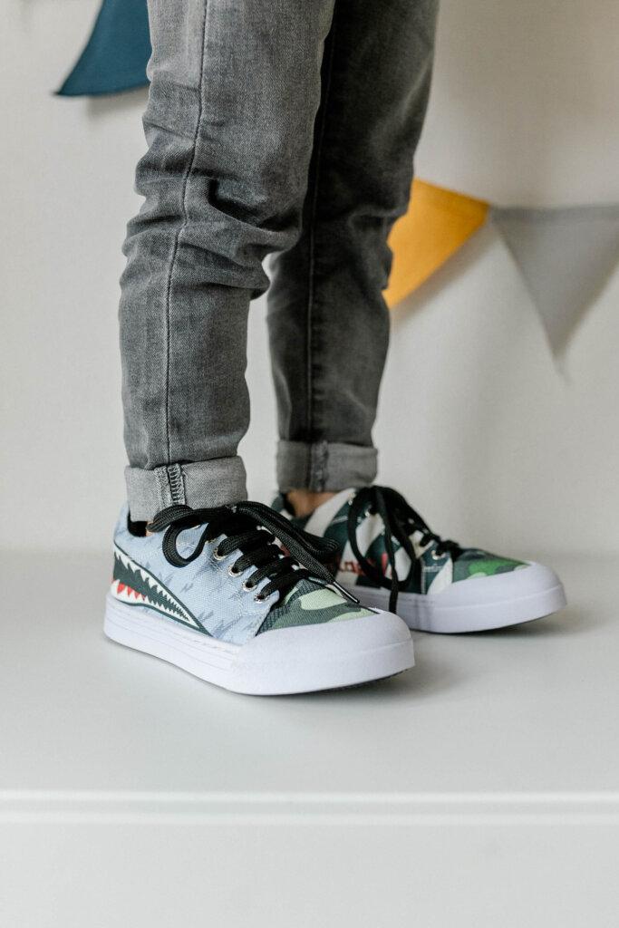 sneakers jongens dierenprint