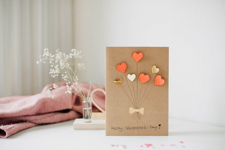 valentijnskaart knutselen diy hart zelf maken