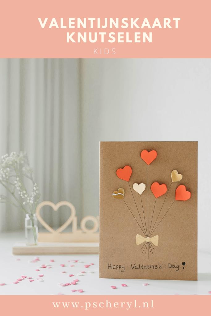 Valentijnskaart knutselen met kinderen zelf maken DIY valentijn