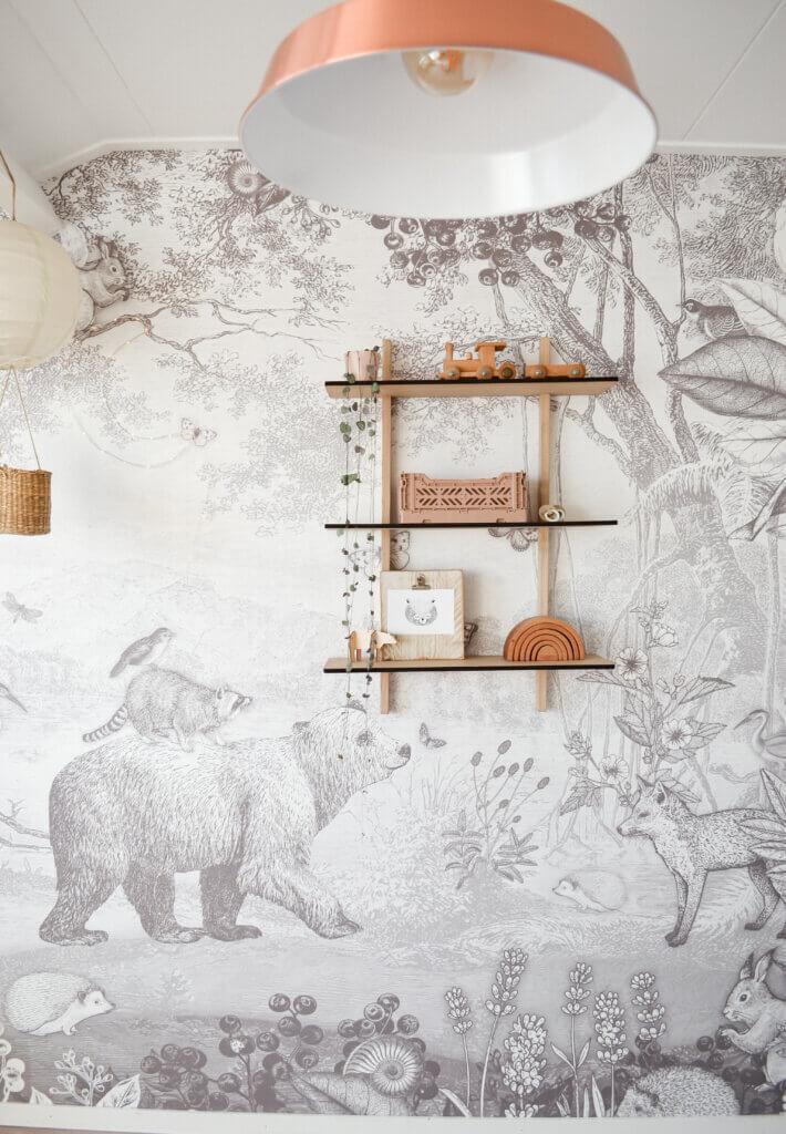 behang pimpelmees babykamer