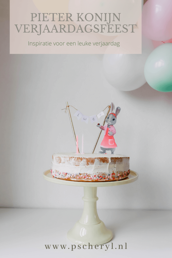 thema verjaardagsfeest pieter konijn