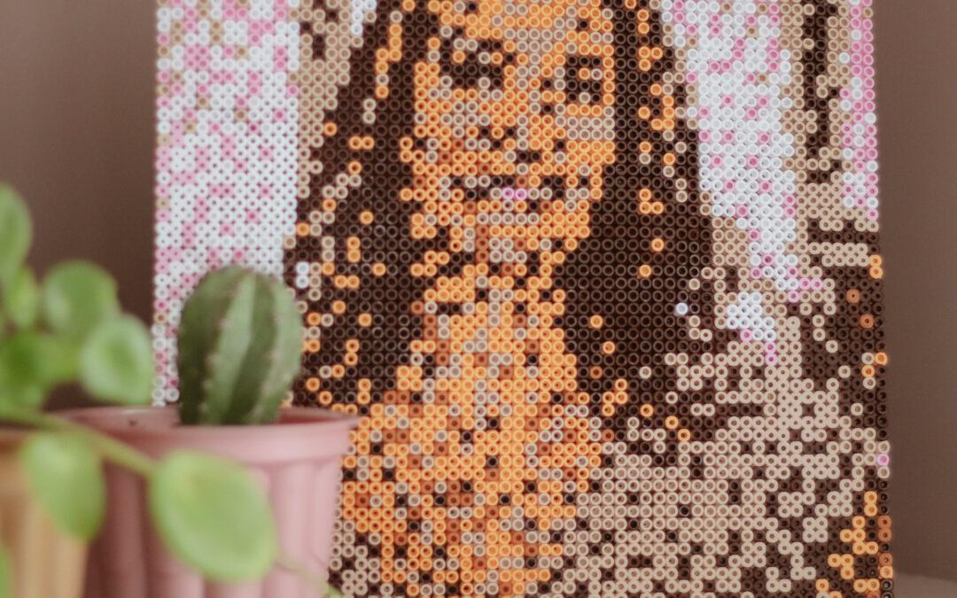 strijkkralen portret diy patronen voorbeeld