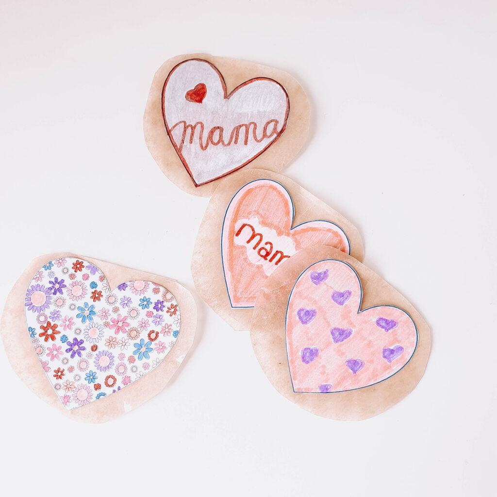 moederdag knutselen stickers