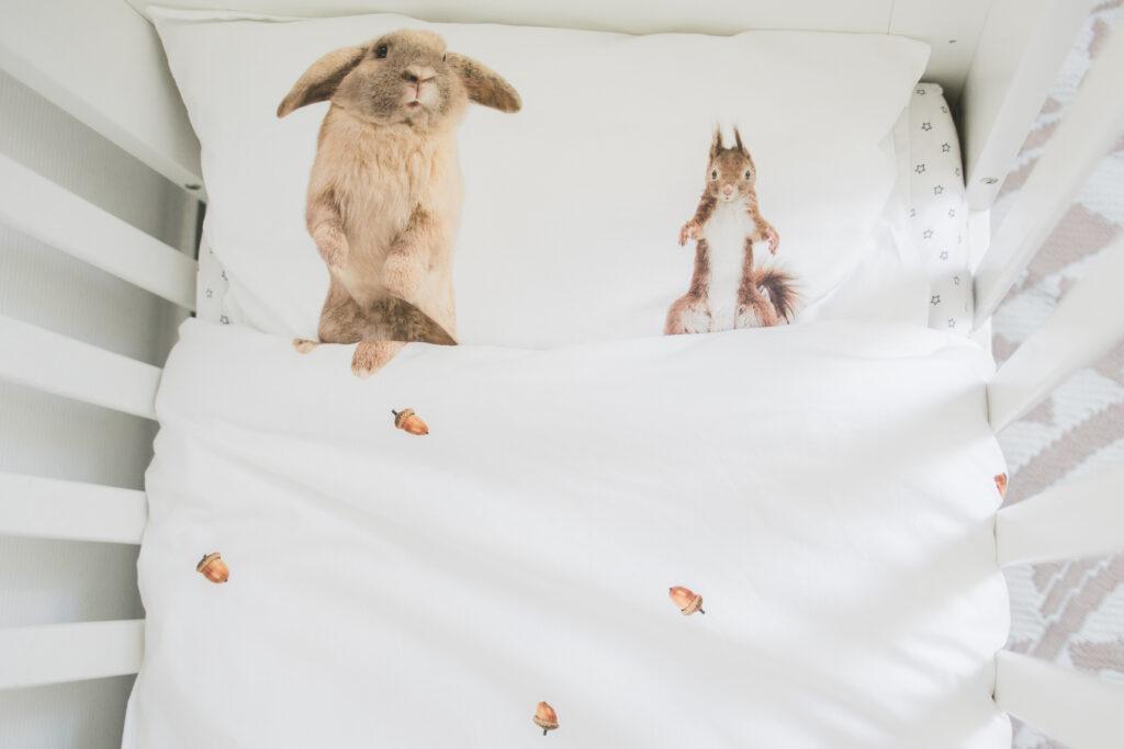 SNURK beddengoed flurry friends dieren dekbedovertrek